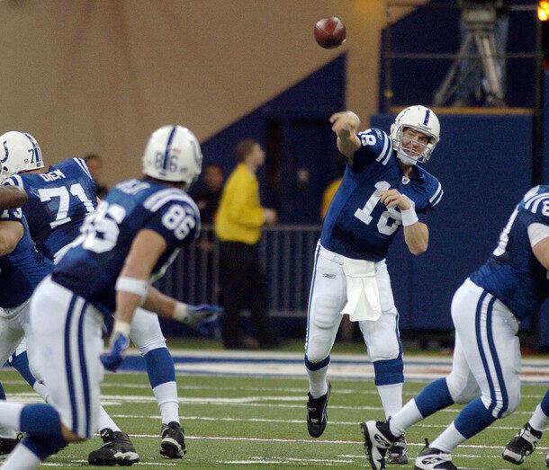 Ben Utecht Peyton Manning Indianapolis Colts