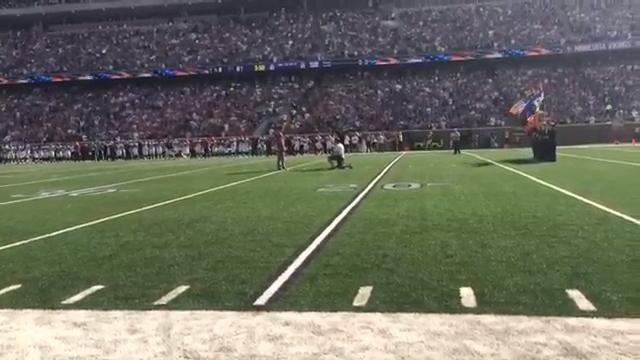 Ben Utecht Sings National Anthem NFL Vikings