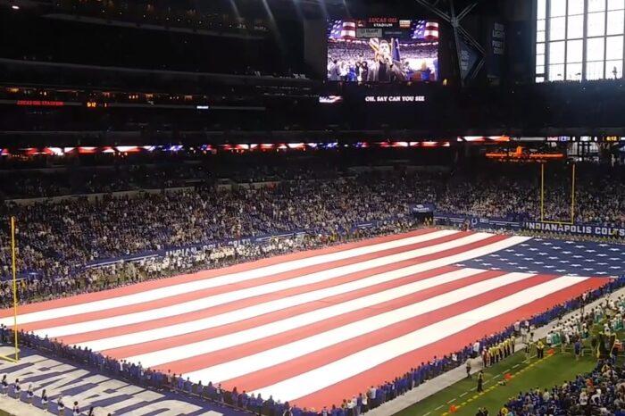 Ben Utecht Sings National Anthem NFL Colts Game